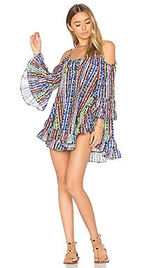 Cold Shoulder Dress in Multi