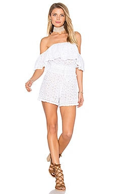 Eyelet Romper in White