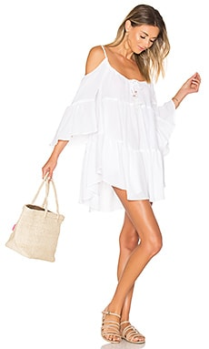 Say Oui Cold Shoulder Dress in White
