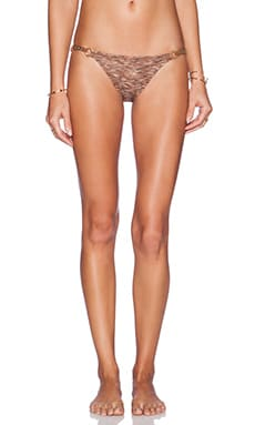 ale by alessandra Copper Canyon Braided Bikini Bottom in Bronze