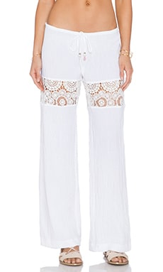 ale by alessandra White Sands Lace Pant in White