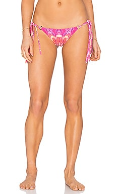 ale by alessandra California Tie Side Bikini Bottom in Island Fire