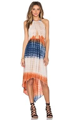 Hi Low Halter Dress in Tie Dye
