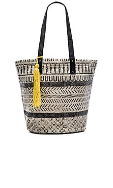 ale by alessandra Maya Tote in Charcoal & Off White