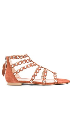 ale by alessandra Scalloped Edging Sandals in Dark Red