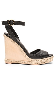 Natural Jute Wedge en Noir