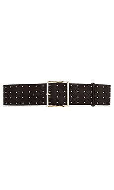 Alice + Olivia Studded Suede Belt in Black