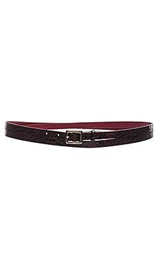 Alice + Olivia Zucchero Snake Skinny Wrap Belt in Bordeaux