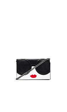 Alice + Olivia Stacey Face Long Wallet in Multi