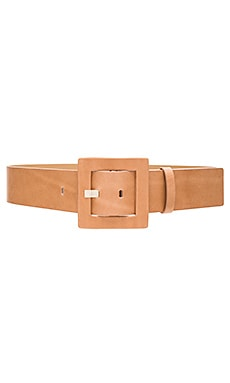 Square Buckle Belt in Natural