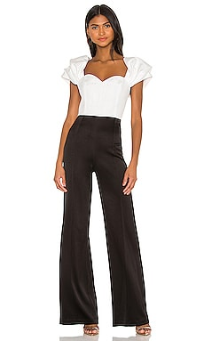 Mateo Puff Sleeve Wide Leg Jumpsuit Alice + Olivia $330