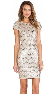 Taryn Sequin Cap Sleeve Dress