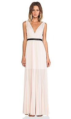 Alice + Olivia Kendrick Pleated Maxi Dress in Nude Lip