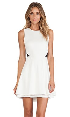 Evan Fit & Flare Dress in Cream
