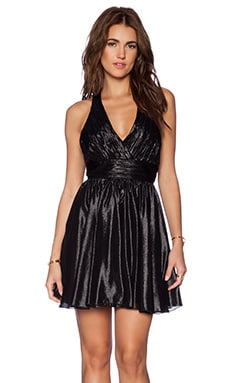 Alice + Olivia Darcy Flirty Dress in Black
