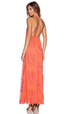 Alice + Olivia Kelly T Back Maxi Dress in Coral