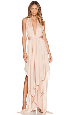 Alice + Olivia Lyndon Scarf Dress in Pink