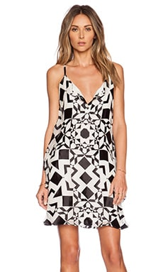 Alice + Olivia Rhi Tiered Hem Tank Dress in Diamond Kaleidoscope