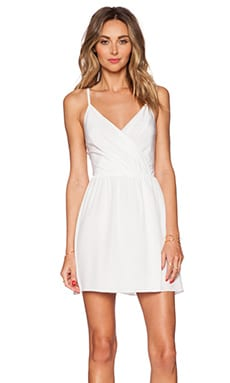 Alice + Olivia Renata Draped Dress in Off White