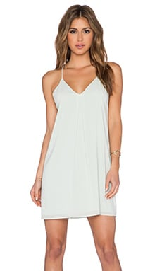 Alice + Olivia Fierra Y-Back Tank Dress in Aqua