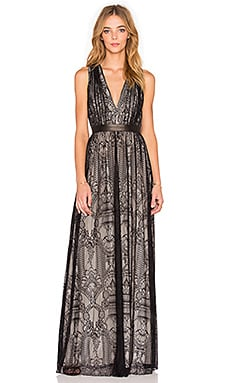 Alice + Olivia Sybil Maxi Dress in Black