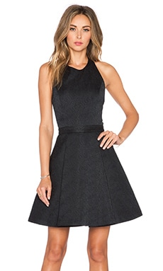 Alice + Olivia Danie Open Back Dress in Black