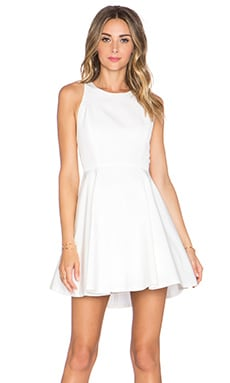 Alice + Olivia Fran Party Dress in Off White