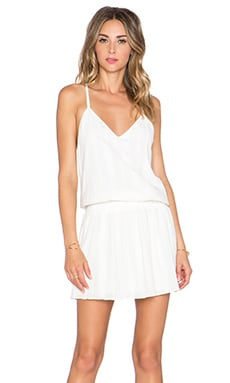 Alice + Olivia Preslie Open Back Dress in White