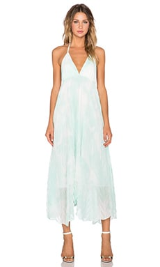 Alice + Olivia Adalyn Keyhole Maxi Dress in Aqua Water