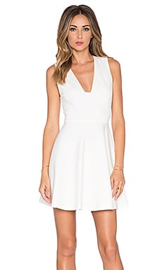 Alice + Olivia Kimbriella Flared Dress in Cream