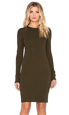 Alice + Olivia Ferris Long Sleeve Mini Dress in Army