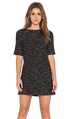 Liesl Raglan Tunic Dress en Imprimé Noir
