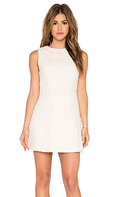 Alice + Olivia Haven Seamed Structure Dress in Cream