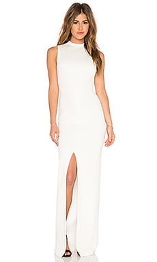 Alice + Olivia Gisela Mockneck Maxi Dress in Cream