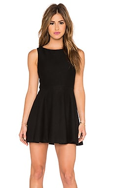 Alice + Olivia Monah A-Line Dress in Black
