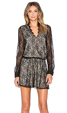 Alice + Olivia Deena Dress in Black & Natural