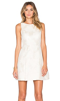 Alice + Olivia Mea Dress in Cream & Silver