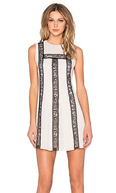 Alice + Olivia Edwina Dress in Antique & Black