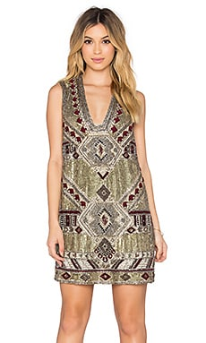 Alice + Olivia Odell Dress in Gold Multi