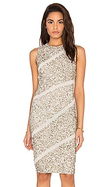 Alice + Olivia Sitara Dress in Cream & Silver