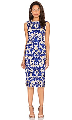 Alice + Olivia Tamika Dress in Nude & Royal Blue