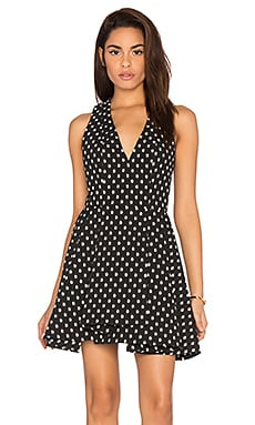Alice + Olivia Tanner Dress in Black & Cream