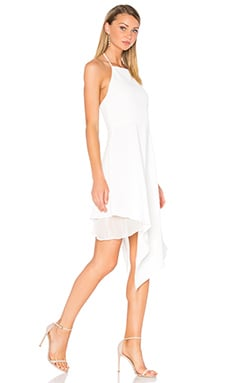 Bennie Asymmetric Dress in Off White