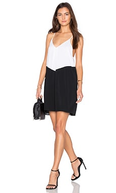 Belinda Dress in Black & Off White