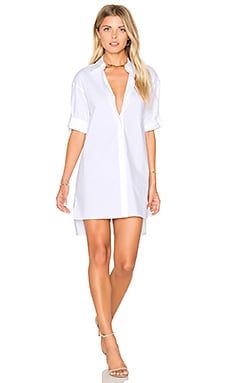 Camron Shirt Dress en Blanc