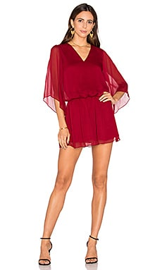 Alice + Olivia Lyla Blouse Dress in Bordeaux
