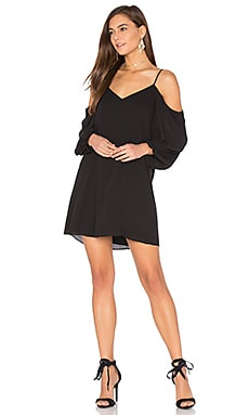 Carli Cold Shoulder Dress in Black