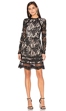 Janae Lace Mini Dress en Noir