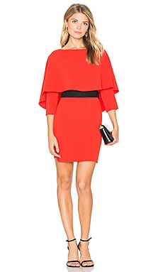 Cairo Boatneck Dress in Poppy & Black