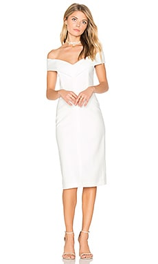 Luana Off Shoulder Dress in Off White